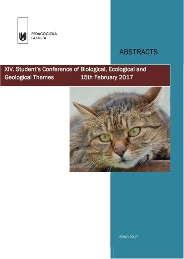 XIV. Student's conference of Biological, Ecological and Geological Themes