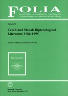Czech and Slovak dipterological literature 1986–1995